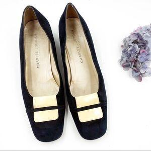Charles Jourdan | Vintage Blue Suede Heels